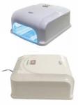 LUX Dual UV / LED lampa. UV: 36 Watt, 16 Watt LED + 1,5 Watt Fén. Nastavitelná doba svícení: 10 sekund, 30 sekund, 60 a 120 sekund.